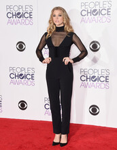 jumpsuit,black,natalie dormer,pumps,turtleneck,see through,pants,plunge v neck,top