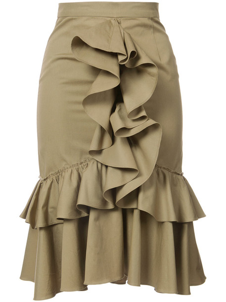 Tome skirt midi skirt women midi cotton brown