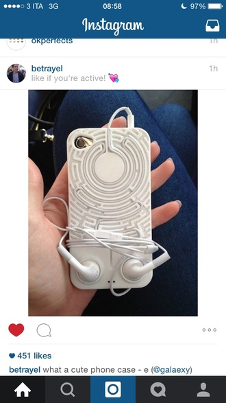 phone cover white labyrinth heaphones iphone iphone case labyrinth case indie iphone case
