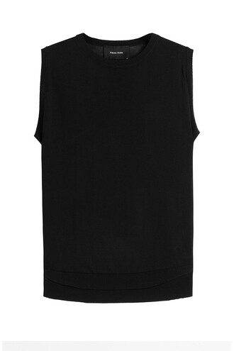 top knitted top sleeveless black