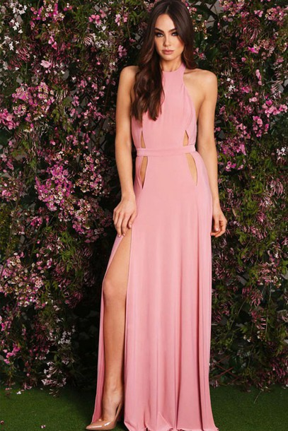 69d17997ee6 dress style pastel pink prom dress elegant maxi skirt maxi dress summer  dress