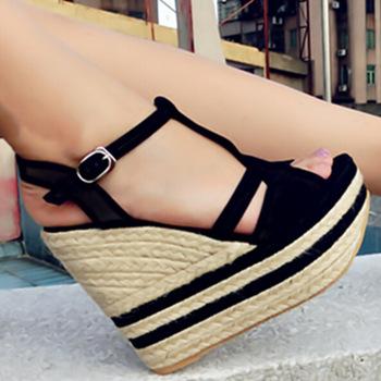 Para De Plataforma Zapatos Verano Sandalias Alto 2015 Moda Tacón CBordxeW