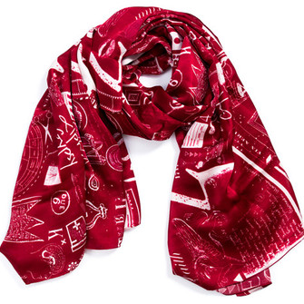 luxury silk scarf christmas scarf red