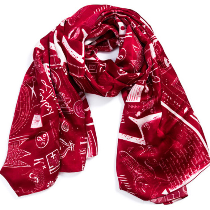 christmas luxury silk scarf scarf red