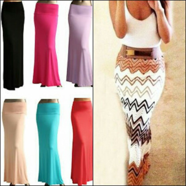 Skirt: maxi skirt, maxi, rayon, long skirt, spring, summer, cute ...
