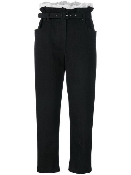ISA ARFEN women spandex cotton black pants