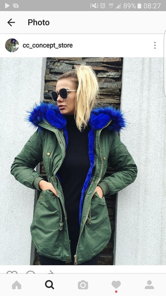 coat army green jacket khaki khaki coat parka green parka khaki parka bright blue royal blue jacket