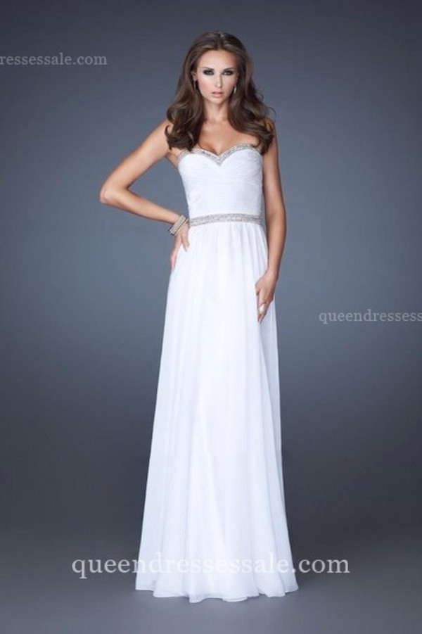 dress prom dress white prom dress ball gown dress