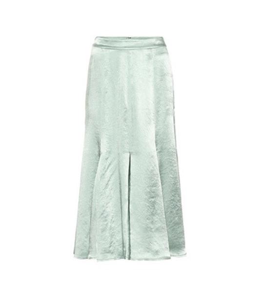 Sies Marjan Holly hammered satin skirt in green