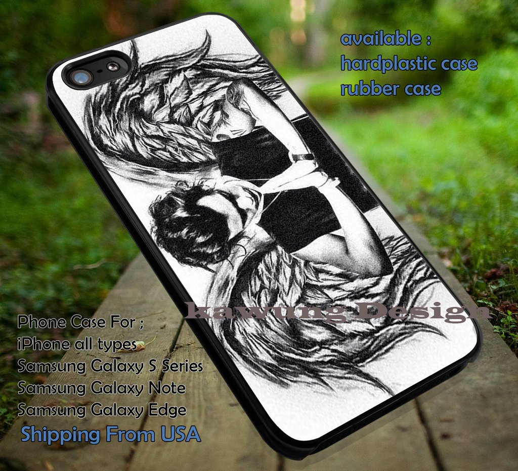 Art drawing edit wings styles,Harry Styles,wings harry,iphone6 6plus,one  direction case/cover for iPhone 4/4s/5/5c/6/6 /6s/6s Samsung Galaxy