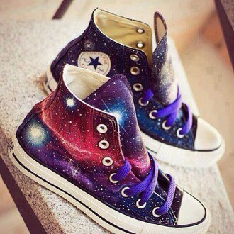 shoes converse galaxy print galaxy shoes