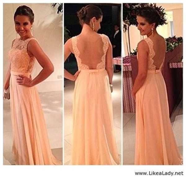 dress prom dress lace pink dress long prom dress open back