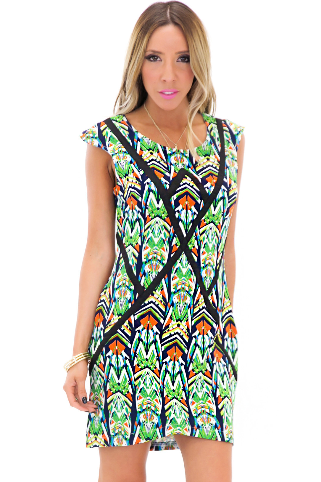 GEO TROPICAL SHIFT DRESS | Haute & Rebellious
