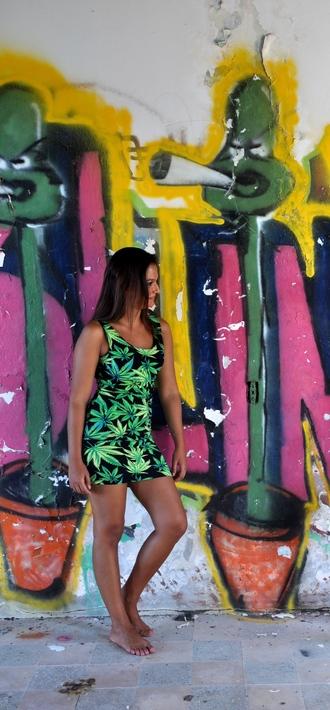 dress weed rave rave bra party dress smoke cannabis shirt