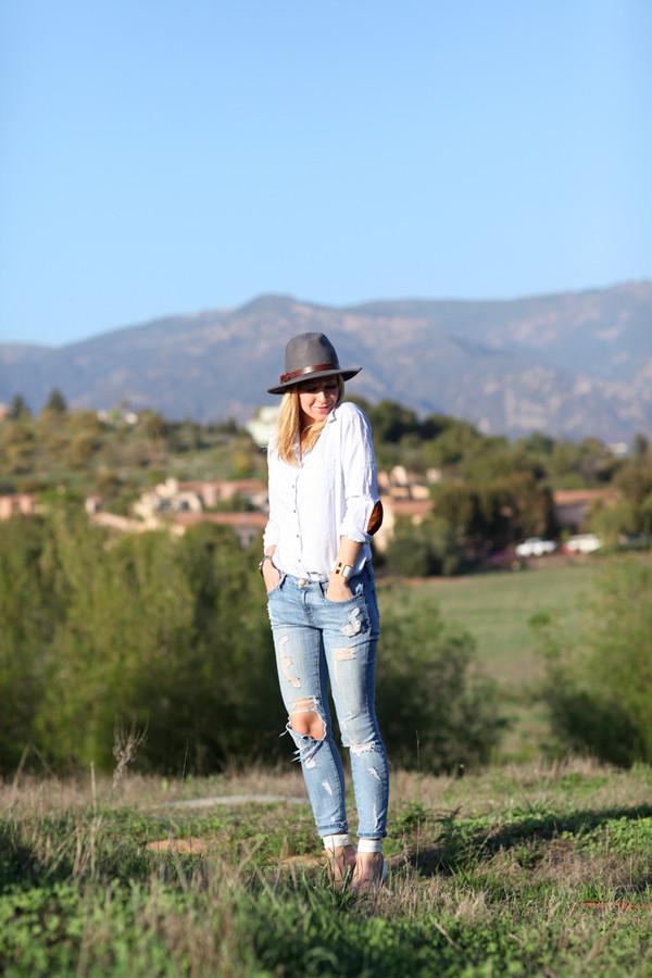 brooklyn blonde jeans hat shoes shirt jacket bag