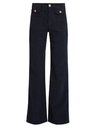 cotton navy pants