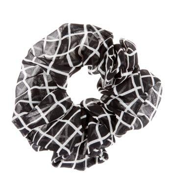 Black and White Oversized Scrunchie