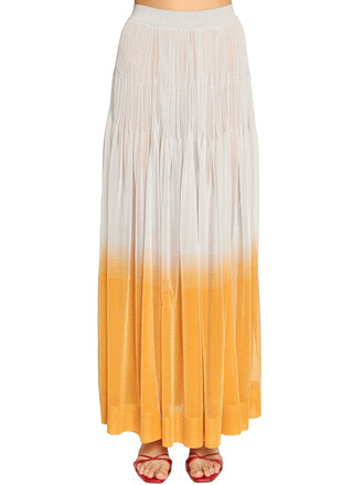 skirt maxi skirt maxi knit light blue orange light blue