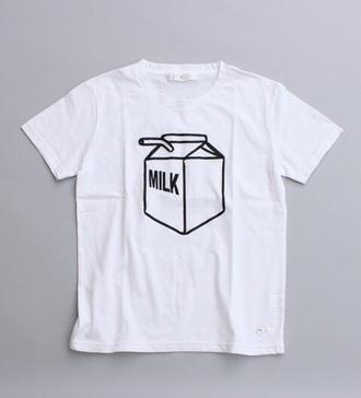 t-shirt white t-shirt milk carton