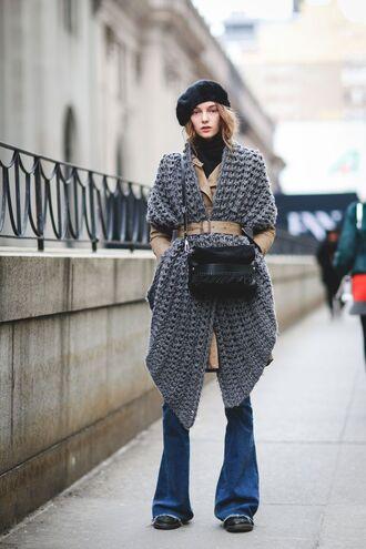 cardigan hat fall outfits fashion week 2016 ny fashion week 2016