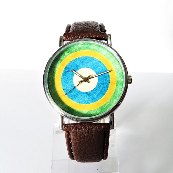 Brasil Flag   Vintage Style Watch Brazil  Flag  by FreeForme