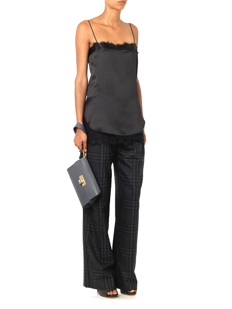Silk and lace cami top   Adam Lippes   MATCHESFASHION.COM