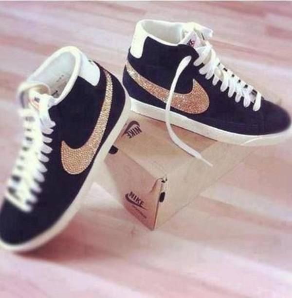shoes nike shoes noir nike black glitter black sneakers nike sneakers