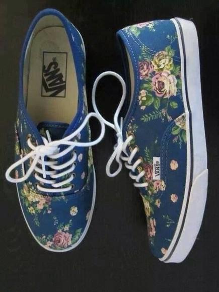 shoes vans shoes, vans, authentic floral