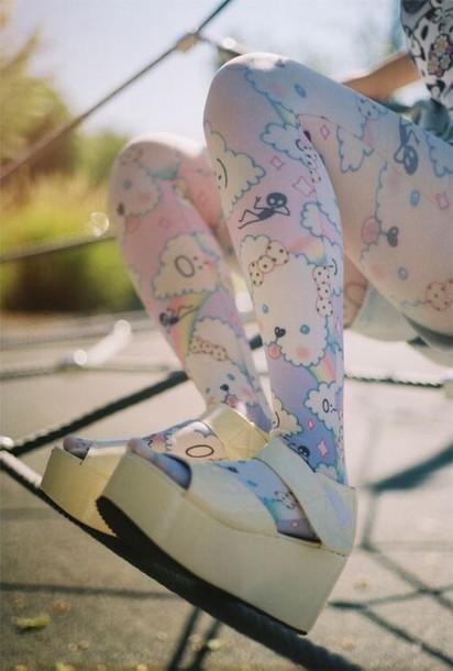 tights pastel kawaii