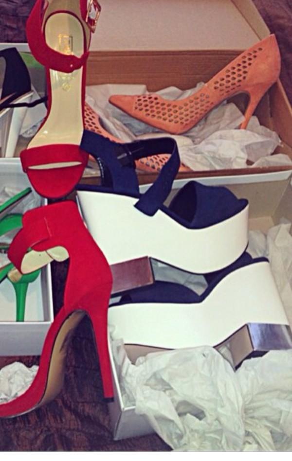 chunky platform shoes heels
