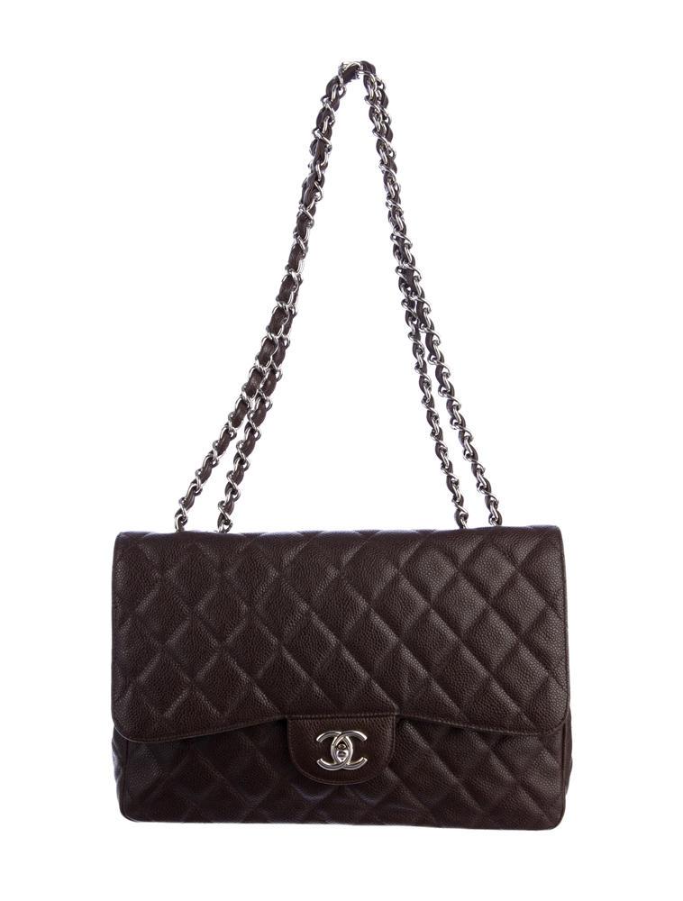 Chanel 2.55 Caviar Jumbo Flap Bag