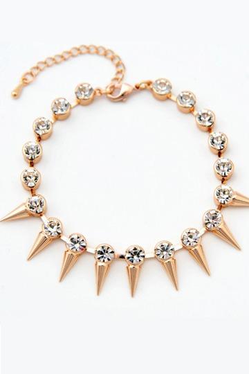 Rivet Golden Alloy Bracelet [FWBJ0077]- US$ 9.99 - PersunMall.com