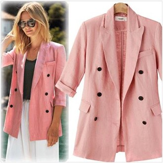 coat women casual slim double jugged coat women casual slim double jugged winter outfits pink white gorgeous sexy fashion party summer to fall half sleeve charming warm autumn coat