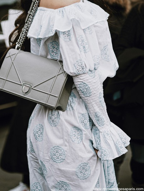 f89565e2db0b bag tumblr dior dior bag diorama bag grey bag chain bag dress white dress  off the