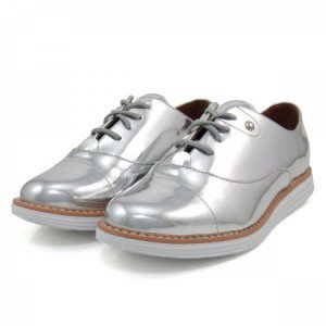 Women's Sliver Mirror Leather Vintage Lace Up Women's Oxfords