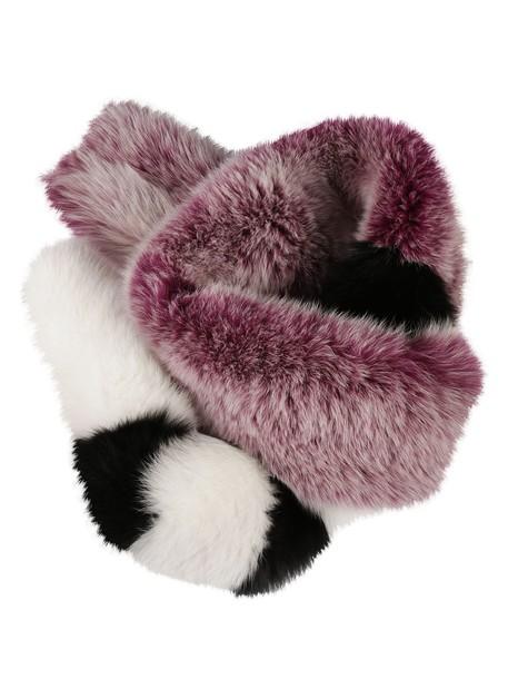 Off-White fox scarf white purple pink