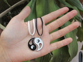 jewels,necklace,yinyang,friendship necklace