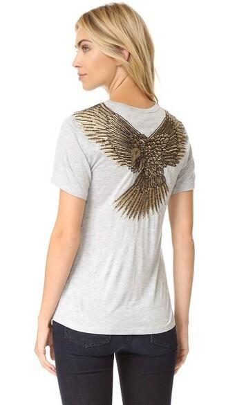 eagle light grey heather grey top