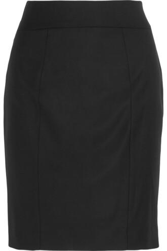 skirt pencil skirt wool black