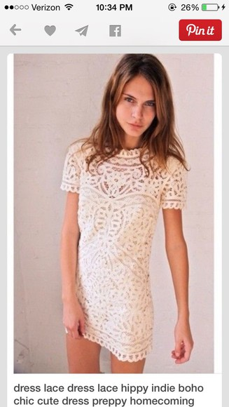 shift lace white shift dress