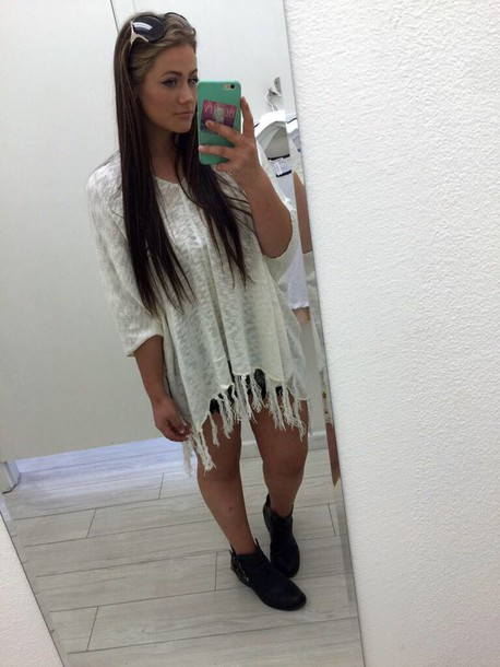 blouse fringed top