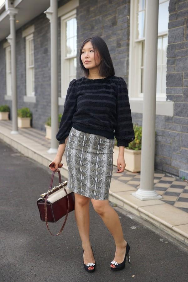 cecylia t-shirt sunglasses skirt jeans bag shoes