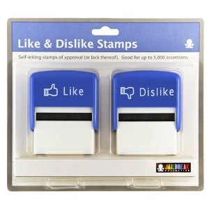 Amazon.com : like/dislike stamp set : business stamps : office products