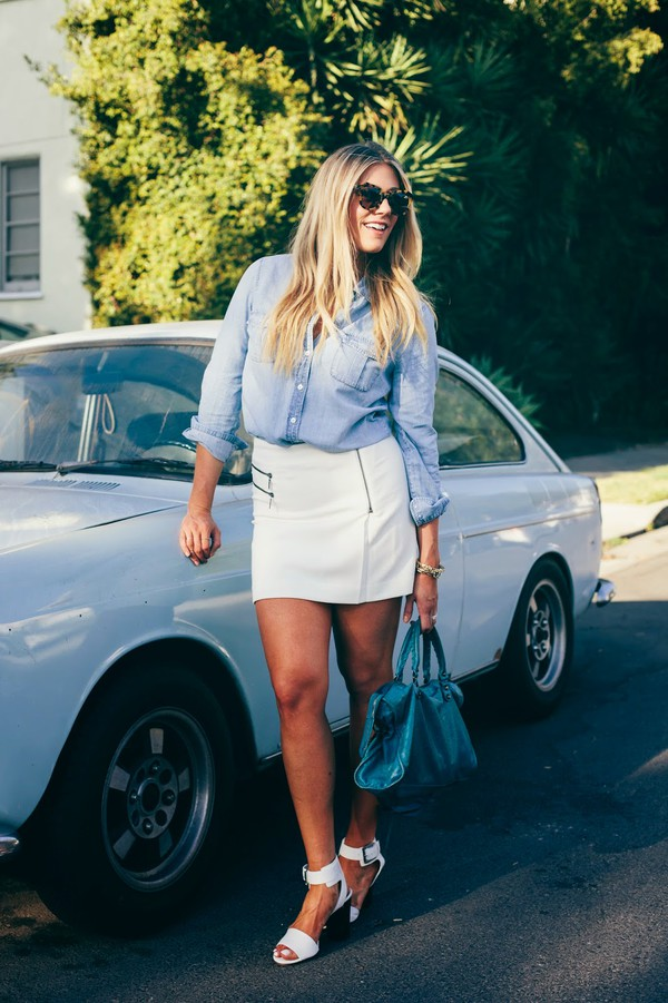 devon rachel top skirt shoes sunglasses jewels bag