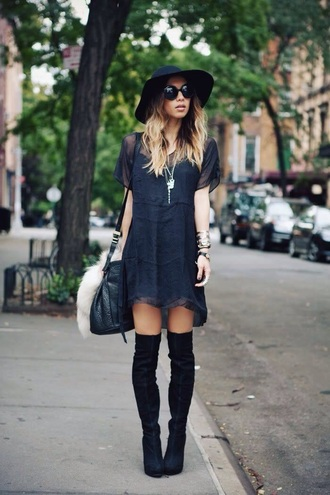 streetstyle boot dress navy blue dress boots