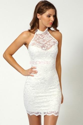 dress lace lace dress white lace dress sexy prom