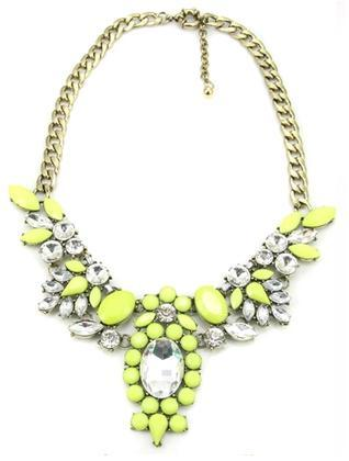 Neon floral statement necklace · mir · online store powered by storenvy