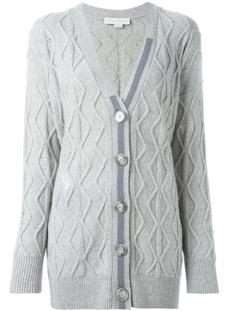 cardigan cable knit cardigan knit women wool grey sweater