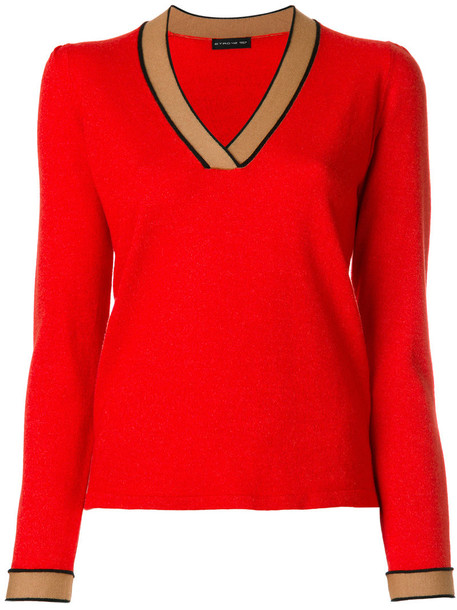 ETRO jumper women silk wool yellow orange sweater