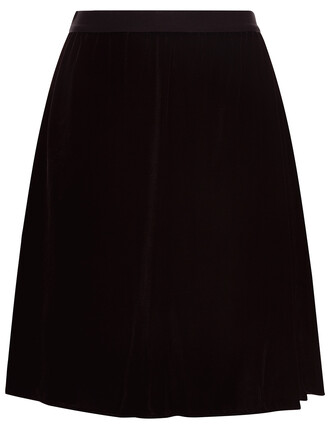 skirt mini skirt mini black velvet